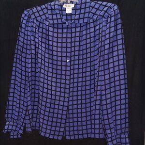 Vintage JACK MUNQUEEN 100% silk blouse.size 14💋